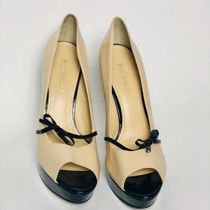 Cream and Black Enzo Angiolini